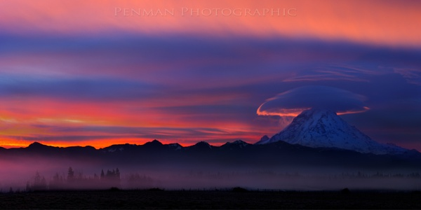 Mt. Rainier Sunrise by dpenman