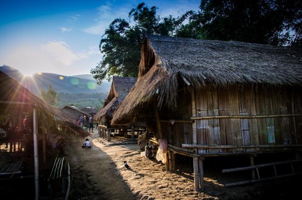 Sunset in the village by Marioks