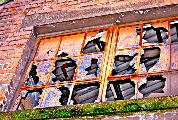 Beauty and colour in a broken window by Lelah