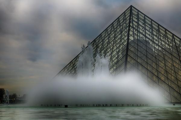 Louvre Pyramids. by llareggub