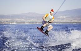 Christmas wake boarding.