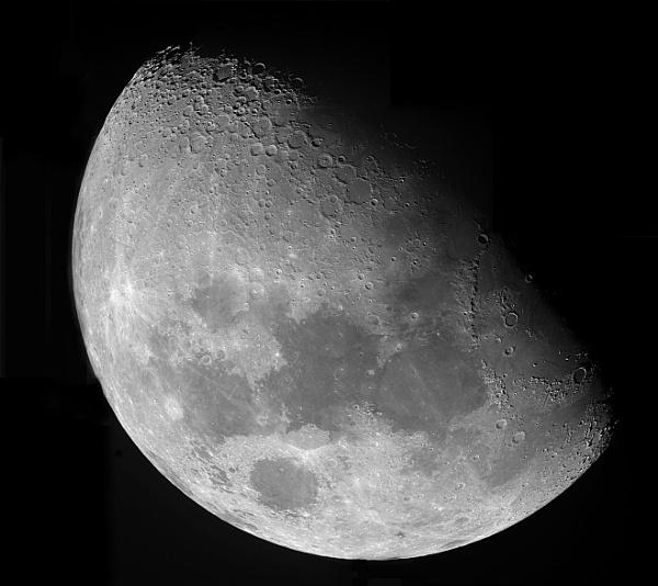 lunar mosaic in mono by Aenima