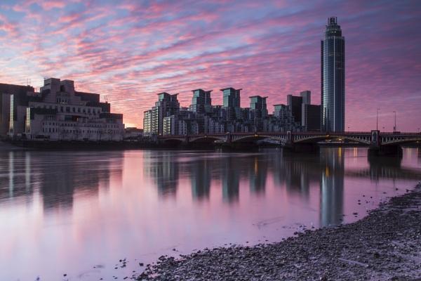 embankment sunrise by mickthebrick