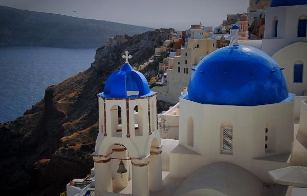 Thira city of blue by atenytom