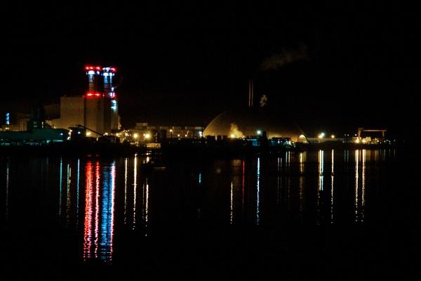 Southampton docks by night by morpheus1955