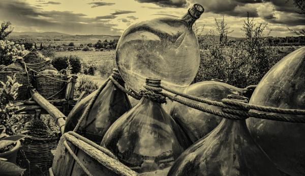 Wine carts at Tuscany by Armando21