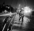 Love on a Rainy Bridge
