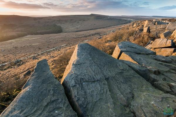 Burbage Rocks Sunset by jamesgrant