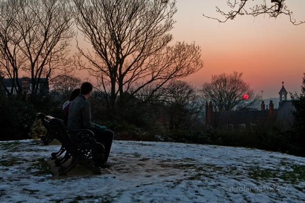 winter sunset lovers by anjoedanas