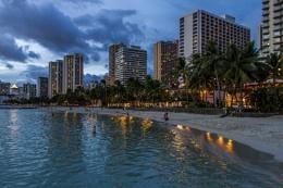Sunset at Waikiki