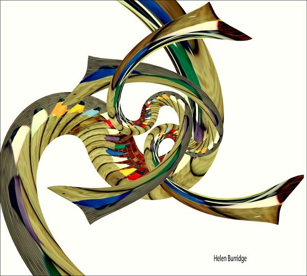 Twirling Pencils 2 by helenlinda
