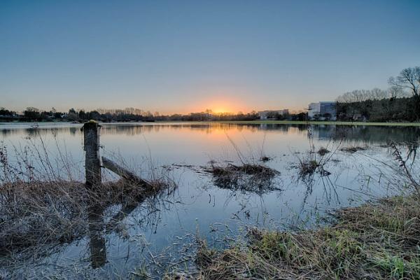 Flood Plain Sunrise by jumbozine