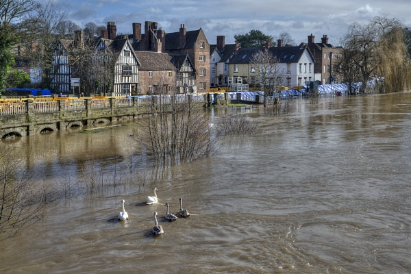 Bewdley floods, River Severn by Fotofunguy