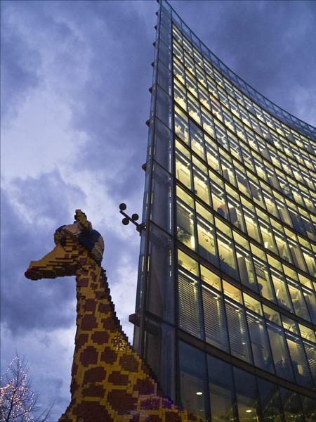 Lego Giraffe Berlin by maggietear