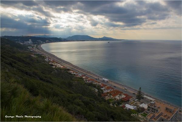 Northwest coast line Rhodes by GeorgePlatis