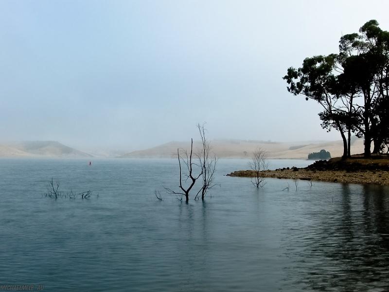Misty morning on a lake