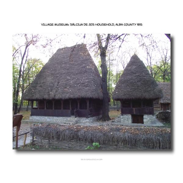 Village Museum: Salciua de Jos household by gss