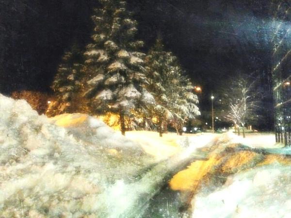Night Winter Scene by shutterbug8156