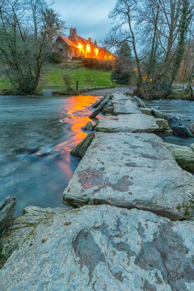 Tarr Steps at Dusk by livinglevels