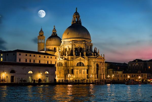 Santa Maria Della Salute Basilica, Venice, Italy - Sunset by nickmoulds