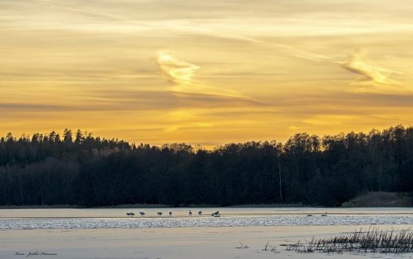 Churchlake Sunset. by Jukka