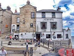 The Bay Hotel. Robin Hood`s Bay. North Yorkshire.