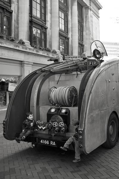 on the back of fire truck by psjekel