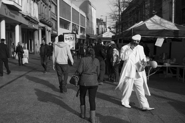 man in white by psjekel