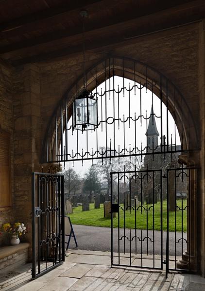 Grantham church door way by xwang