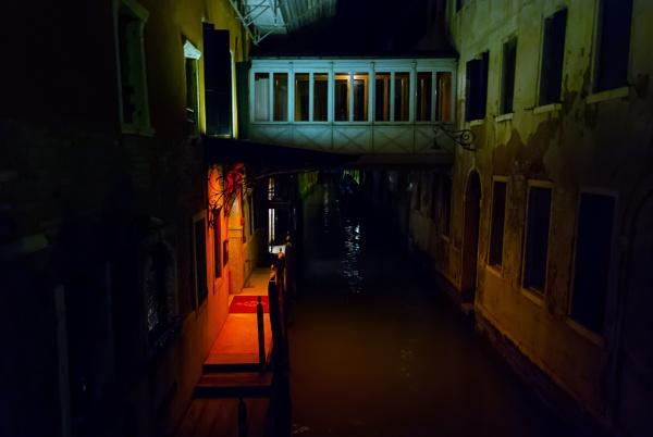 NIGHT CANAL VENICE by FREAKYROBBIE