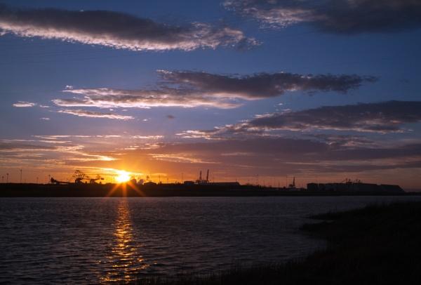 portbury docks sunset by Tone_28