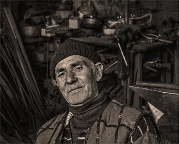 A Portrait of a Blacksmith by nonur
