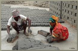 Making Mud Bricks...