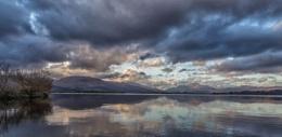 Sun setting at Loch Lomond