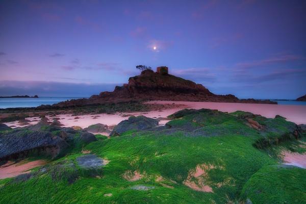Portelet under the moon by happysnapper
