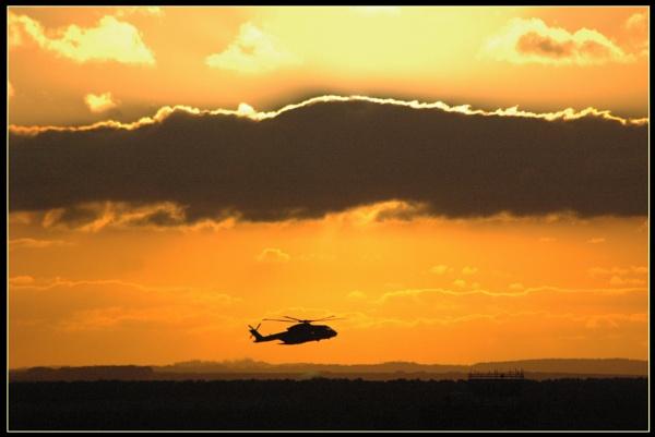 Merlin sunset by scarjam