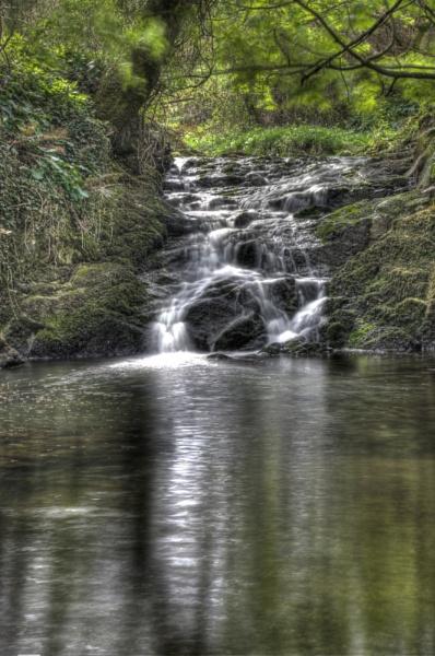 Llangwnnadl Waterfall. by stevew10000