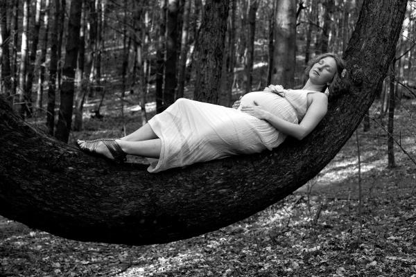 a woman sleeping by wieslaw_czerniawski
