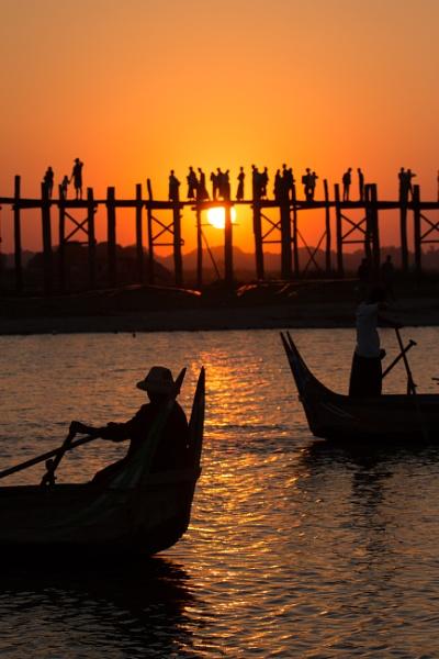 Sunset near Mandalay by makuba