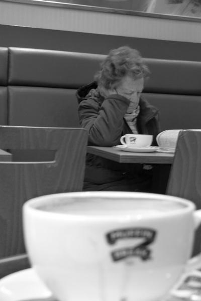 Lady at Café* by pablophotographer