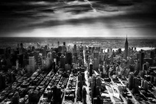 New York skyline by stevewlb