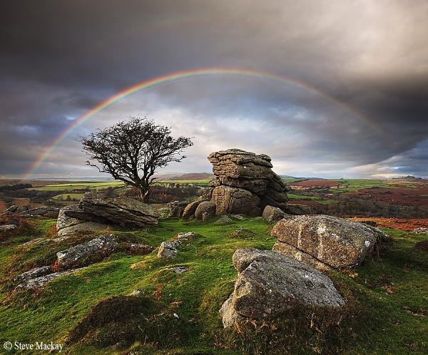 Rainbows over Saddle Tor by SteveMackay