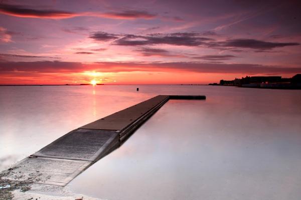 Sun down Hilbre Island by 55jase