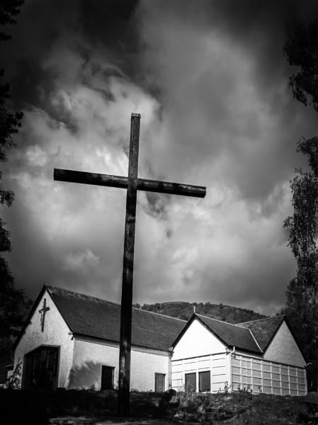 Small church, big cross by Osool