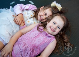 My Granddaughter with her friend on the trampoline