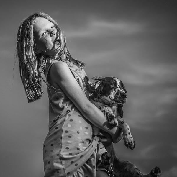 Girl + Dog by minter