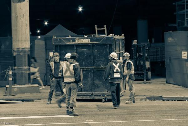 Men at Work by Swarnadip