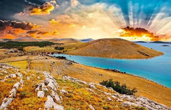 Croatian islands by watercolor