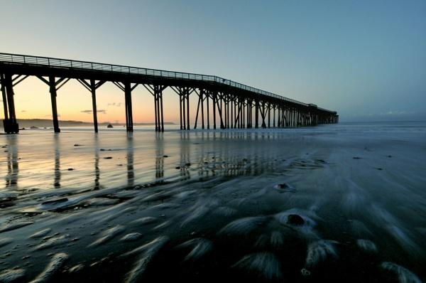 San Simeon Pier 2 by jimmymctavish