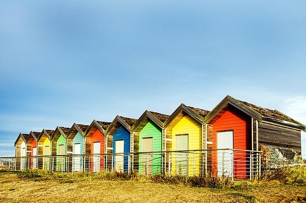 Beach huts at Blyth by icphoto